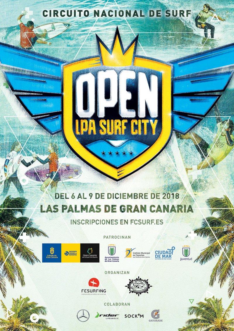 CAMPEONATO OPEN LAS PALMAS SURF CITY 2018 - Inscríbete