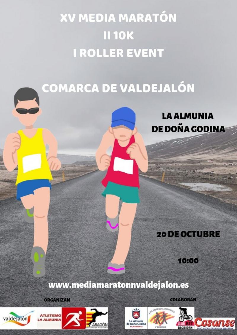 XV MEDIA MARATÓN - 10K COMARCA DE VALDEJALÓN  - I ROLLER EVENT - Inscríbete