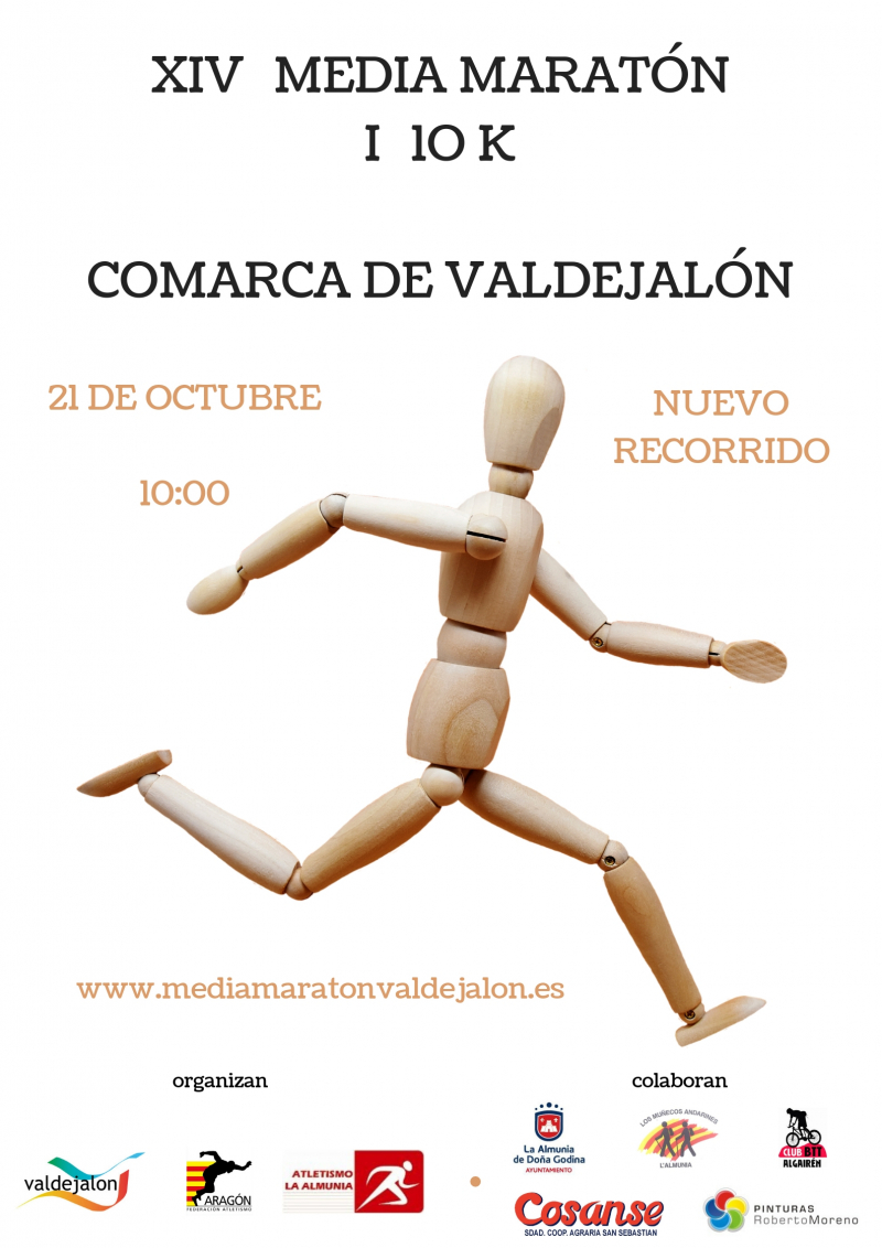 XIV MEDIA MARATÓN - 10K COMARCA DE VALDEJALÓN  - Inscríbete