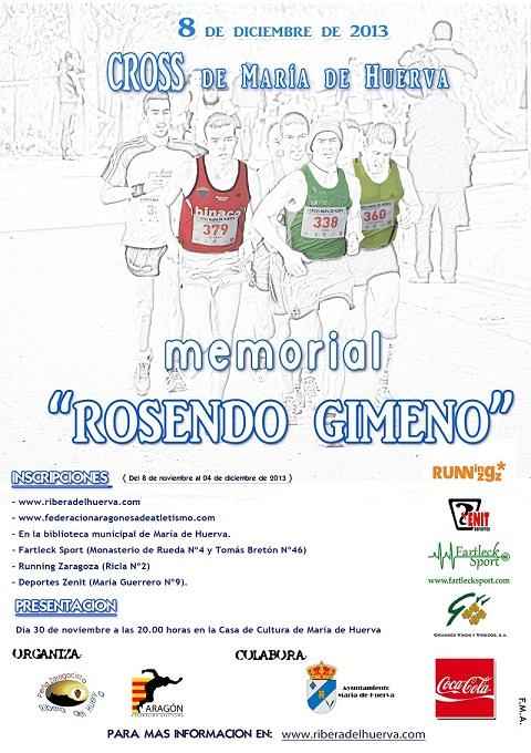 CROSS MEMORIAL ROSENDO GIMENO. MARÍA DE HUERVA 2013 - Inscríbete