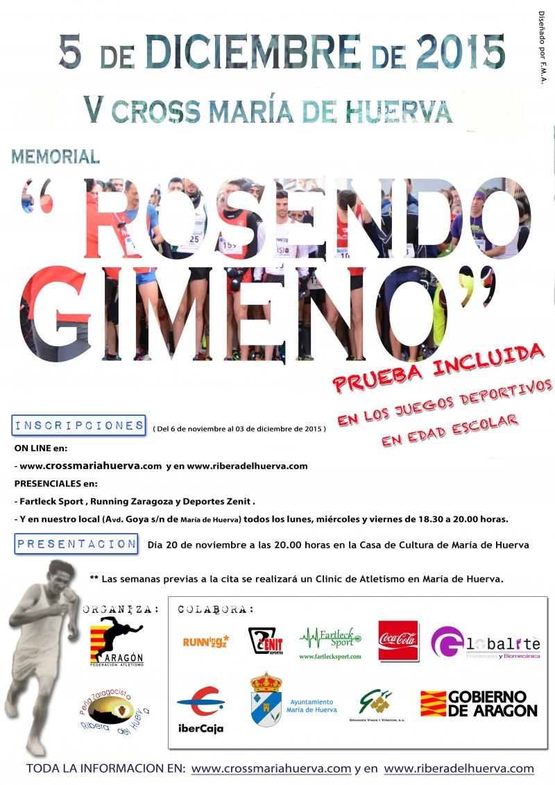 CROSS MARIA DE HUERVA. MEMORIAL ROSENDO GIMENO 2015 - Inscríbete