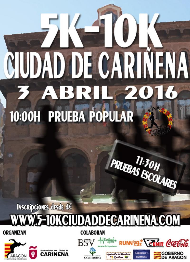 5-10K CIUDAD DE CARIÑENA 2016 - Inscríbete
