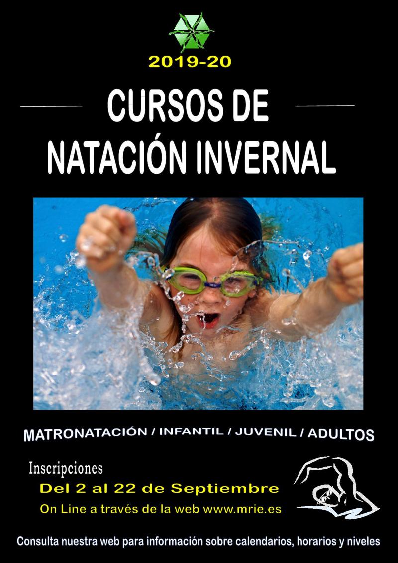 CURSOS DE NATACIÓN INVERNAL 2019/20 - Inscríbete