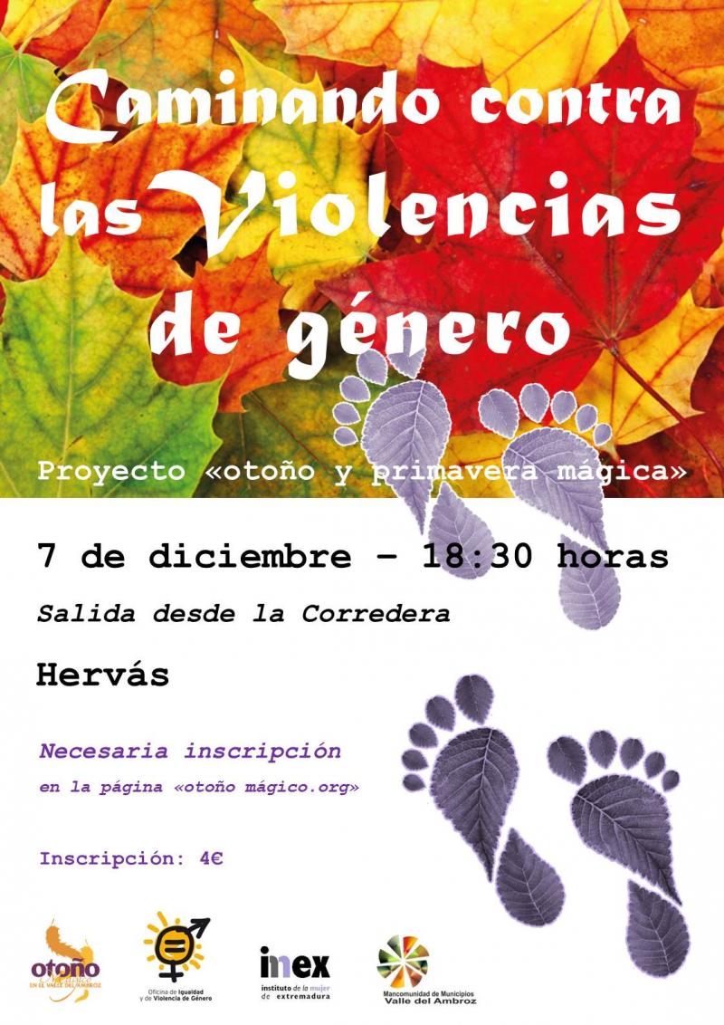 CAMINANDO CONTRAS LAS VIOLENCIAS DE GÉNERO (MARCHA SENDERISTA) - Inscríbete