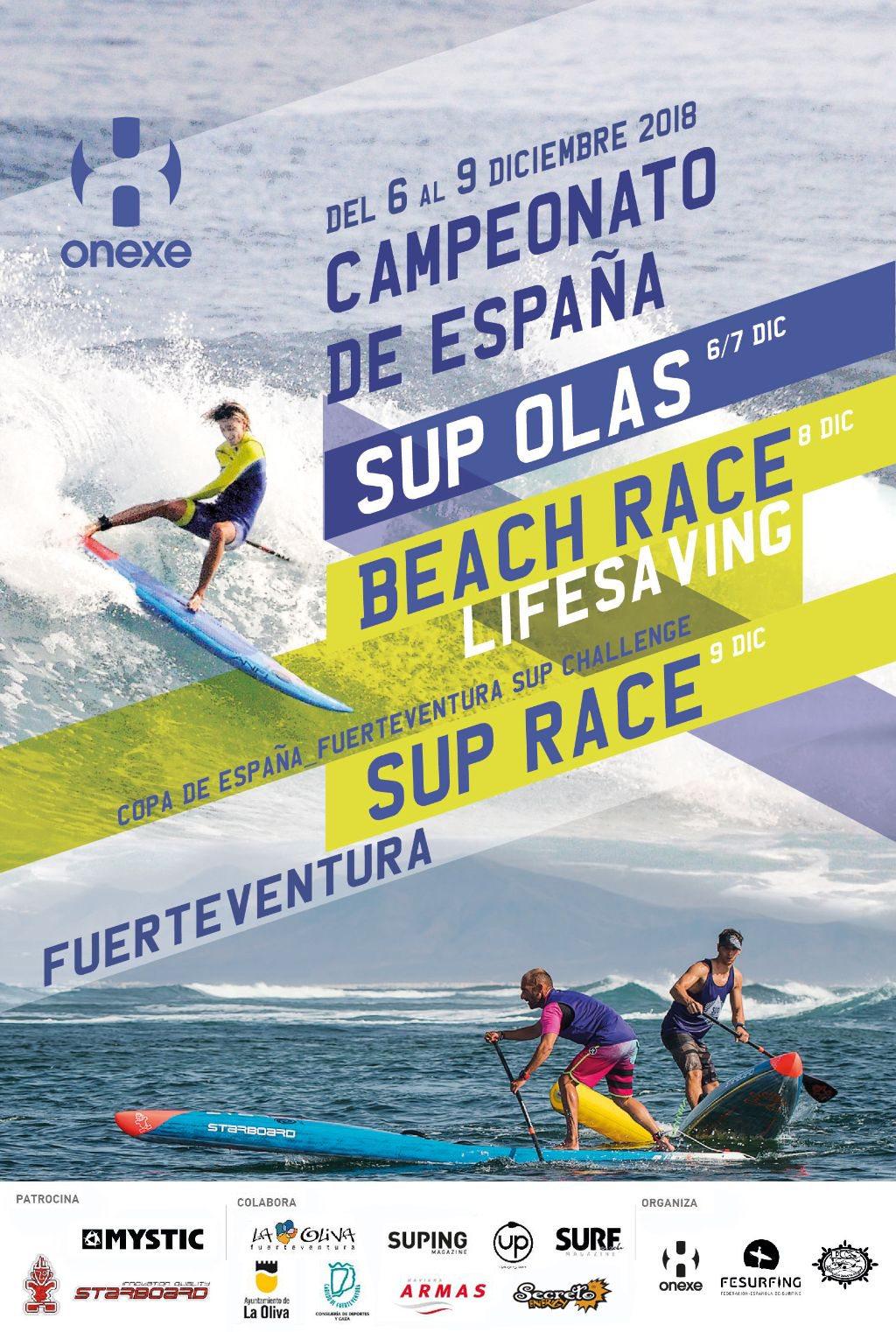 CAMPEONATO DE ESPAÑA FUERTEVENTURA SUP CHALLENGE  WAVES & RACE 2018 - Inscríbete