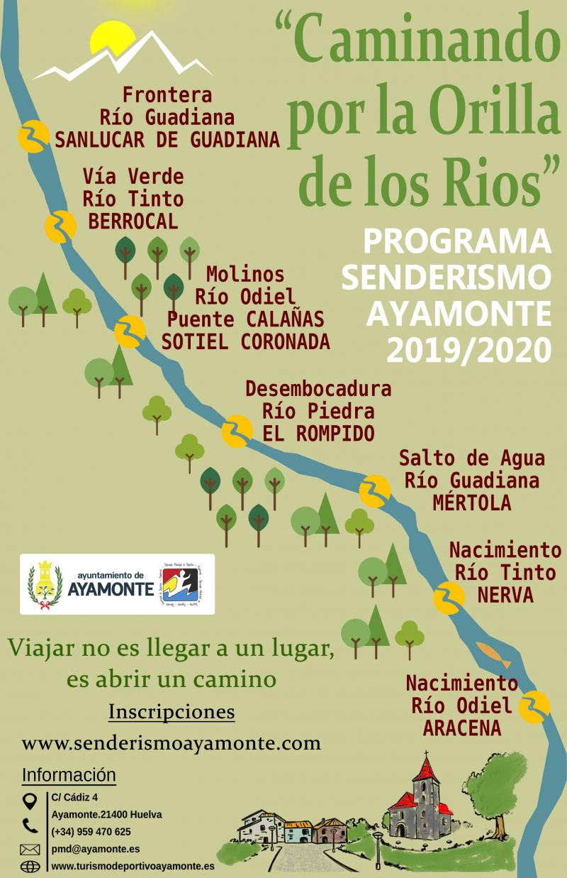 PROGRAMA DE RUTAS DE SENDERISMO 2019/2020 DEL PMD AYAMONTE - Inscríbete