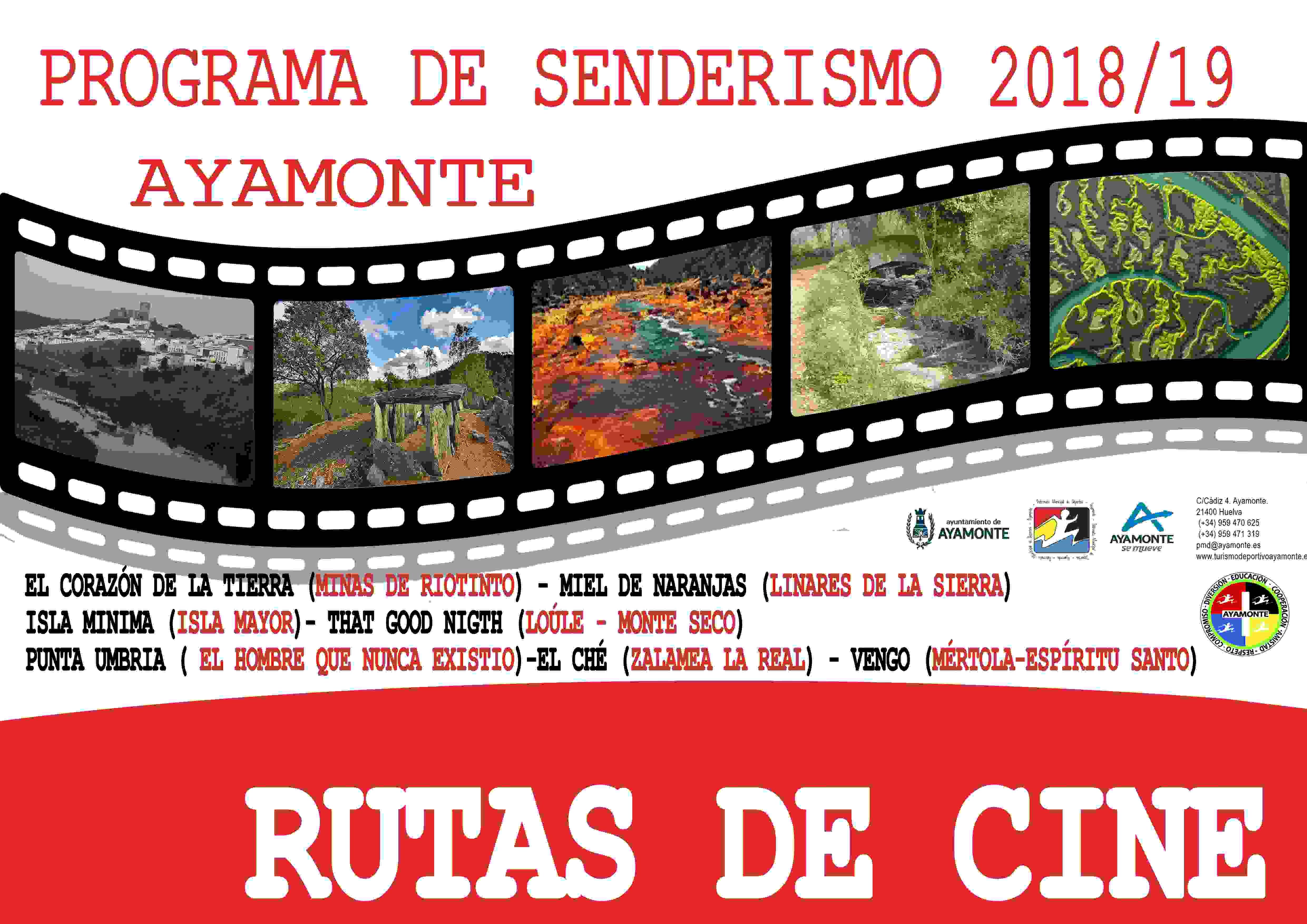 PROGRAMA DE RUTAS DE SENDERISMO DEL PMD AYAMONTE - Inscríbete