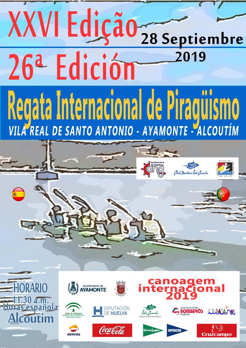 REGATA INTERNACIONAL DE PIRAGUISMO RIO GUADIANA 2019 - Inscríbete