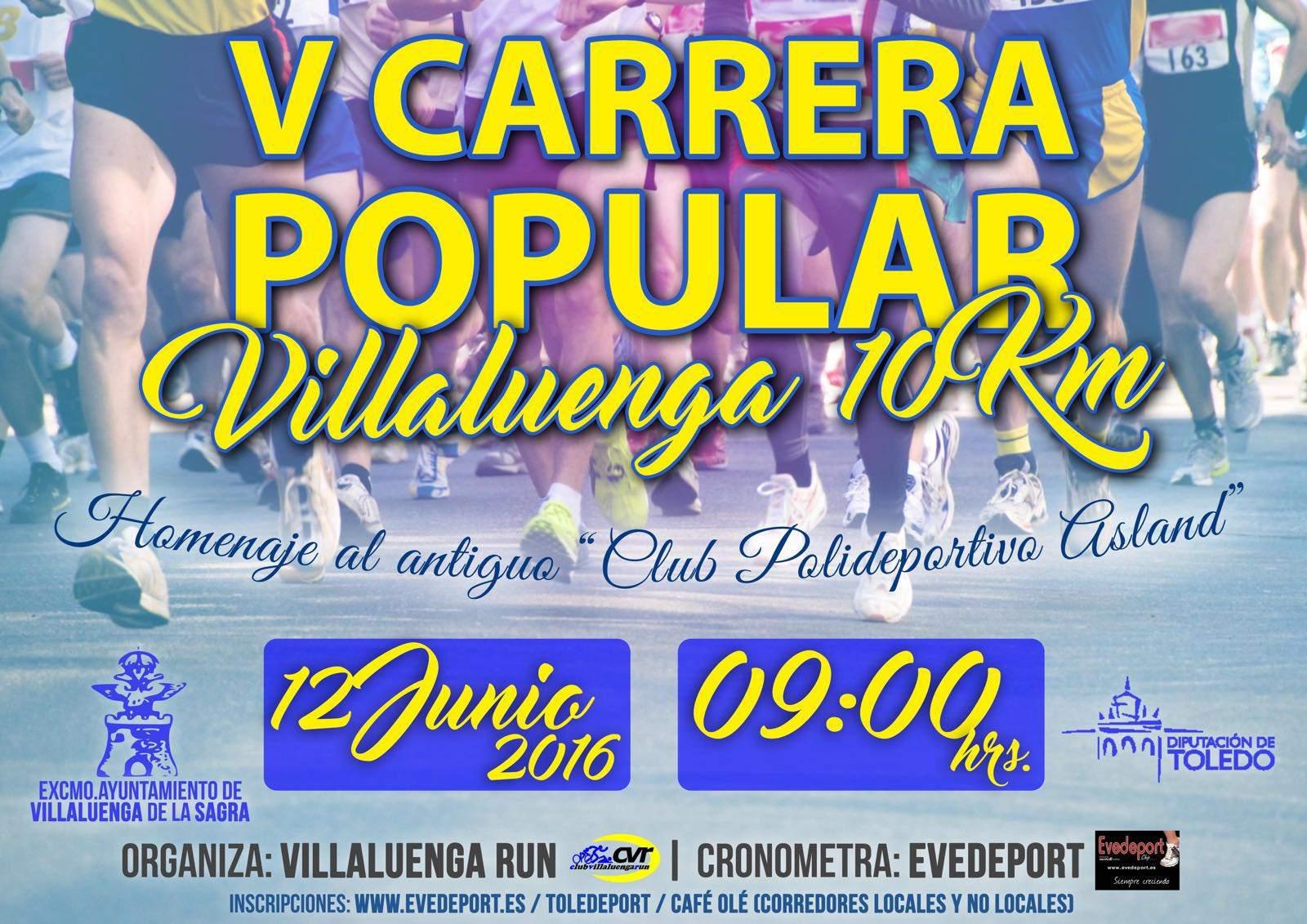 V CARRERA POPULAR VILLALUENGA DE LA SAGRA - Inscríbete