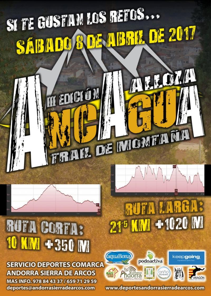 III TRAIL DE MONTAÑA ANCAGUA - ALLOZA 2017 - Inscríbete