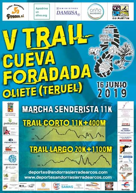 V TRAIL CUEVA FORADADA OLIETE 2019 - Inscríbete