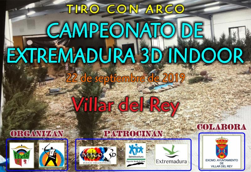 CAMPEONATO DE EXTREMADURA DE 3D  INDOOR 2018/2019 - Inscríbete