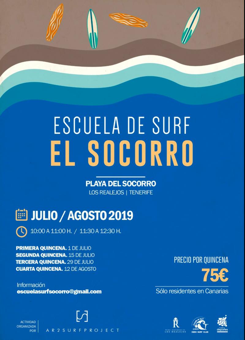 INSCRIPCIÓN ESCUELA MUNICIPAL DE VERANO-PLAYA DEL SOCORRO. LOS REALEJOS  2019 - Inscríbete