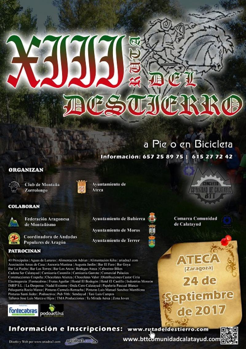 XIII RUTA DEL DESTIERRO - Inscríbete