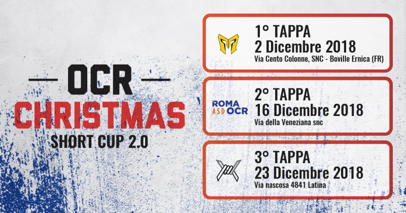OCR CHRISTMAS SHORT CUP PASS 3 GARE - Iscriviti