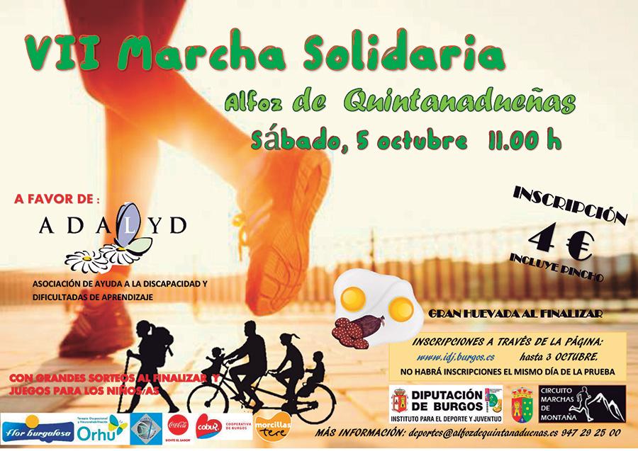 VII MARCHA SOLIDARIA ALFOZ DE QUINTANADUEÑAS - Inscríbete