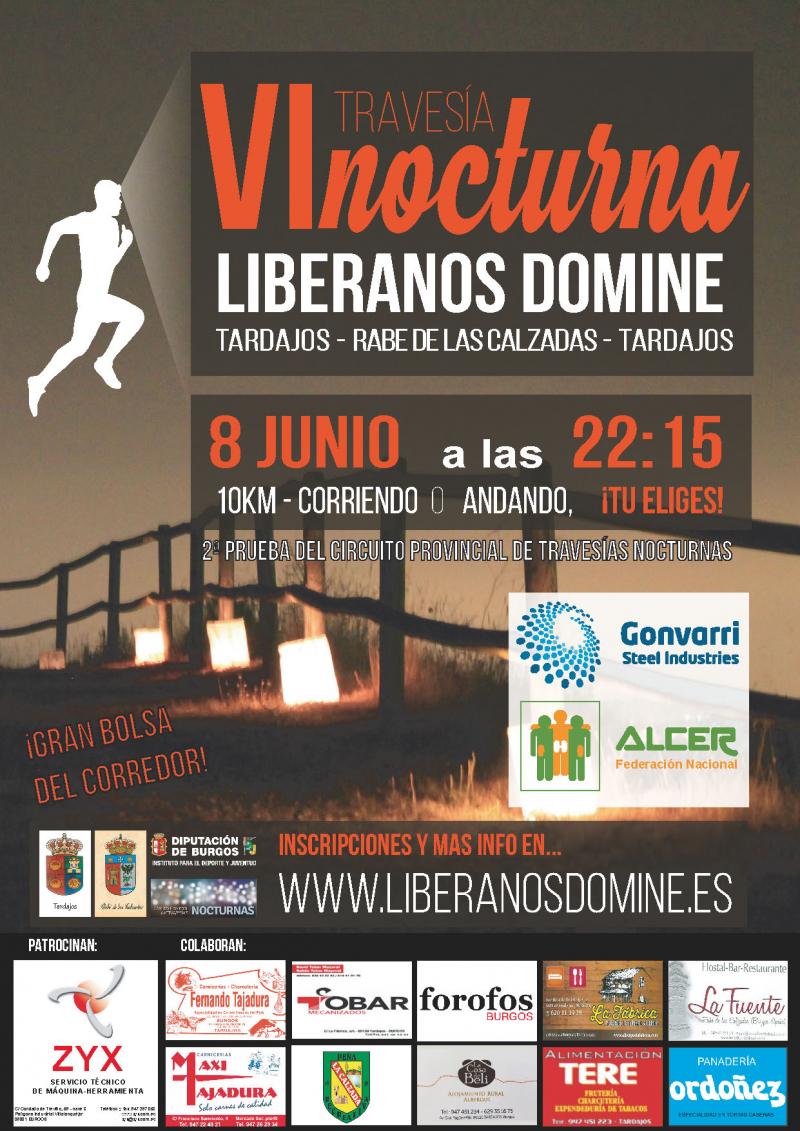 VI TRAVESIA NOCTURNA LIBERANOS DOMINE - Inscríbete