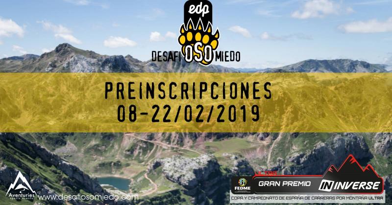 PRE-INSCRIPCIONES EDP DESAFIOSOMIEDO 2019 - Inscríbete