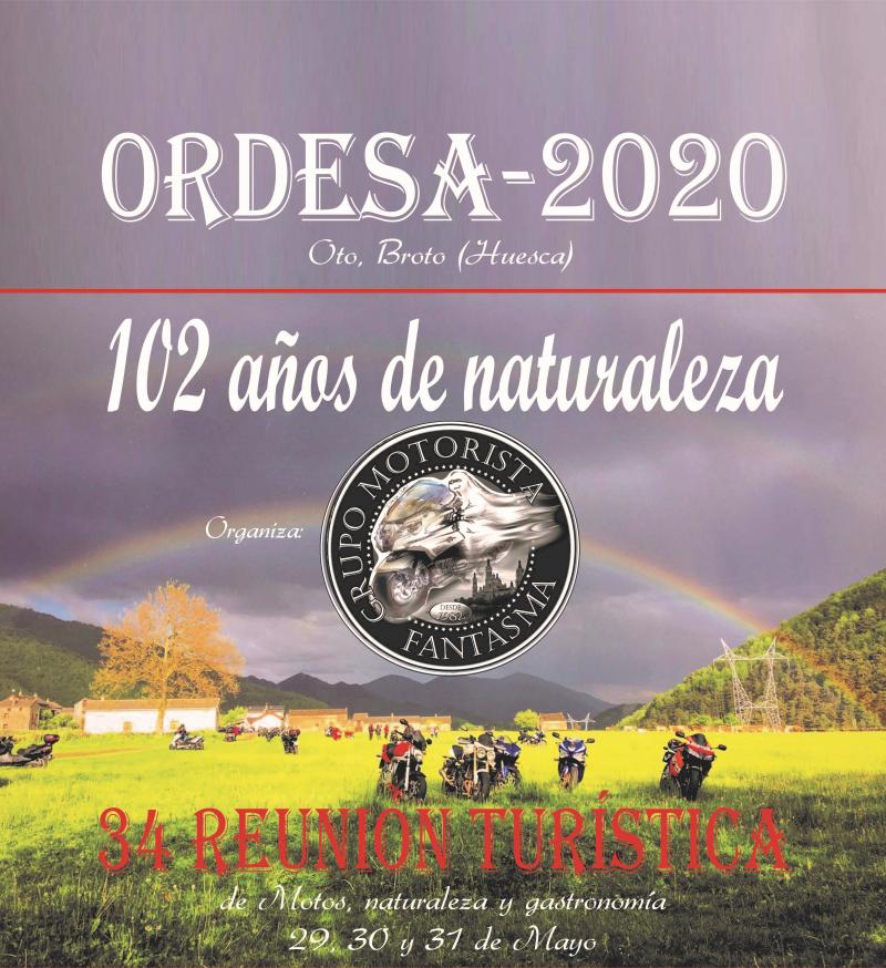 34 REUNIÓN TURÍSTICA DE MOTOS ORDESA 2020 - Inscríbete