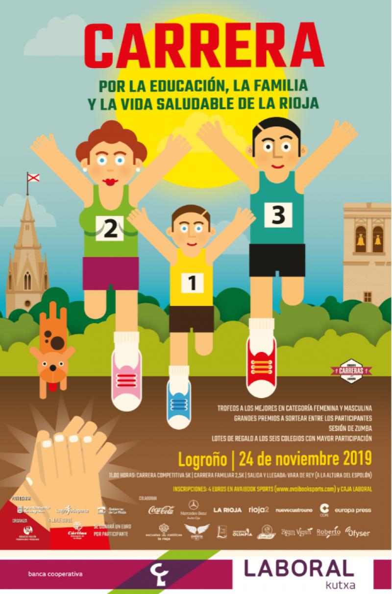 CARRERA POR LA EDUCACIÓN,LA FAMILIA Y LA VIDA SALUDABLE DE LA RIOJA - Inscríbete