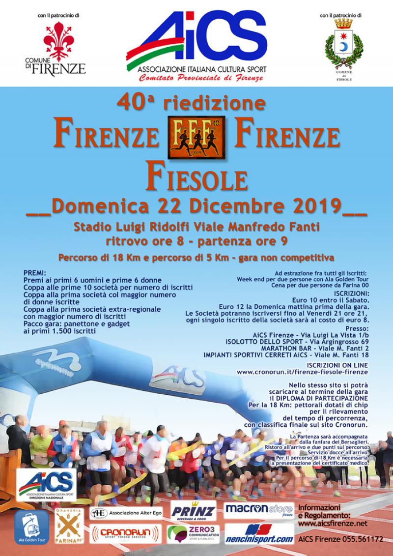 40° RIEDIZIONE FIRENZE-FIESOLE-FIRENZE - Iscriviti