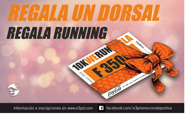 Cartel del evento REGALA UN DORSAL - REGALA RUNNING