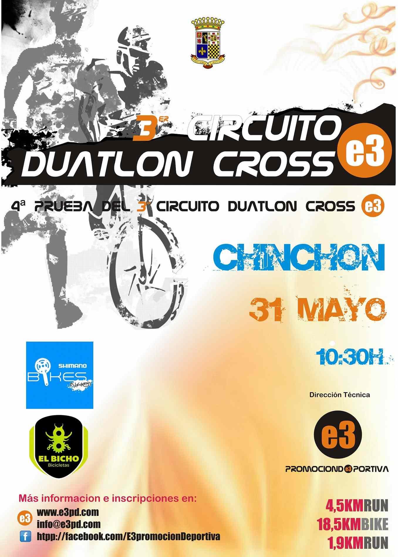 Resultados 4ª PRUEBA CIRCUITO DUATLON CROSS E3 - CHINCHON