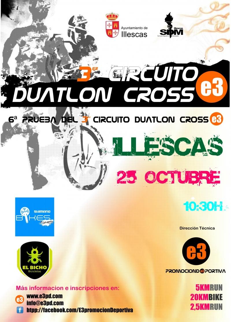 Resultados 6ª PRUEBA CIRCUITO DUATLON CROSS E3 - ILLESCAS