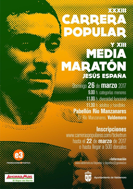 Resultados XXXIII CARRERA POPULAR Y XIII MEDIA MARATON JESUS ESPAÑA - VALDEMORO
