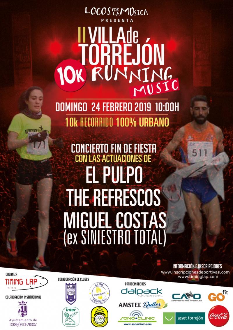 Resultados II VILLA DE TORREJON  10K RUNNING MUSIC