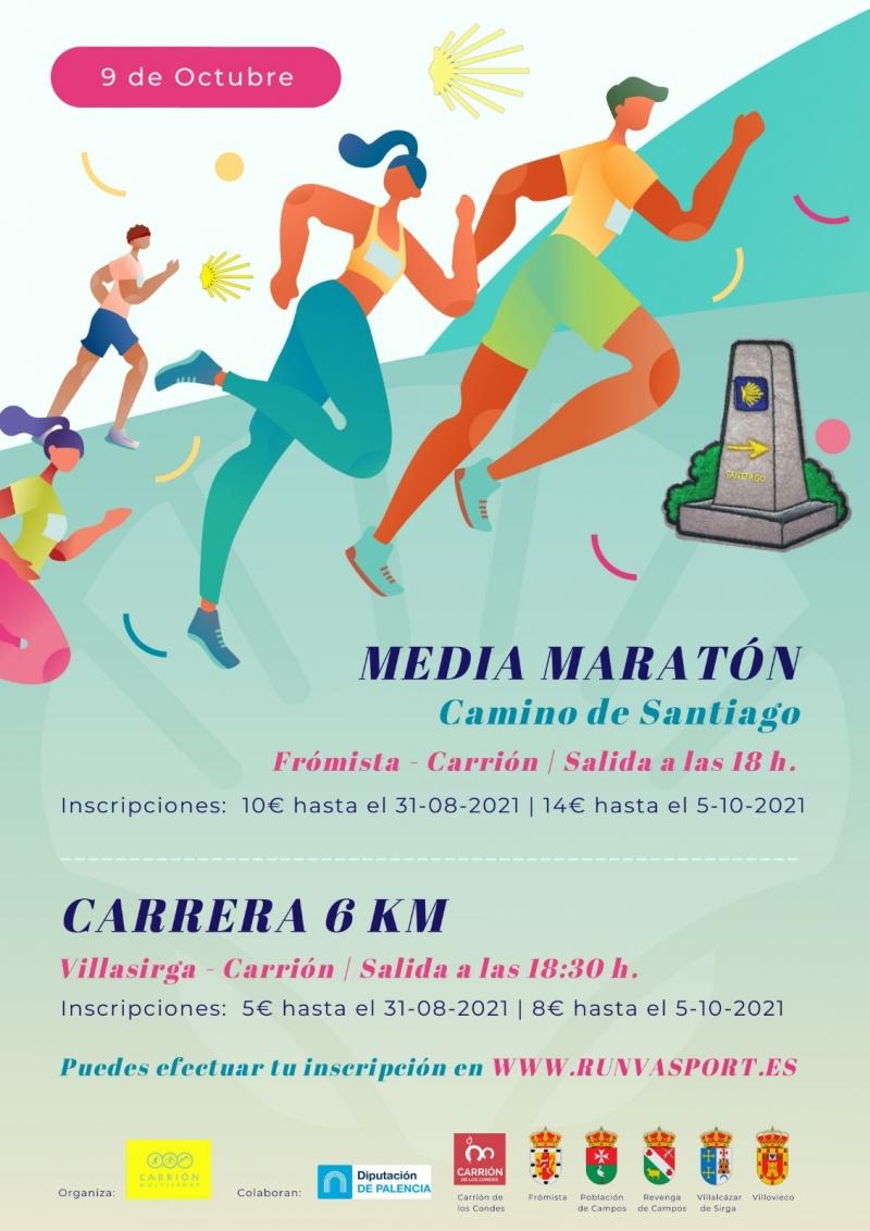 Event Poster MEDIA MARATÓN CAMINO DE SANTIAGO