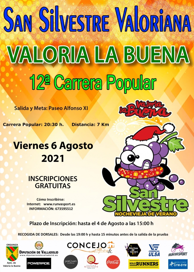 Event Poster 12ª CARRERA POPULAR SAN SILVESTRE VALORIANA