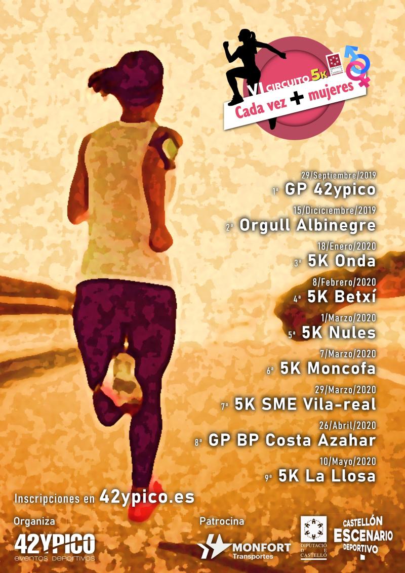 Cartel del evento VI CIRCUITO CADA VEZ + MUJERES