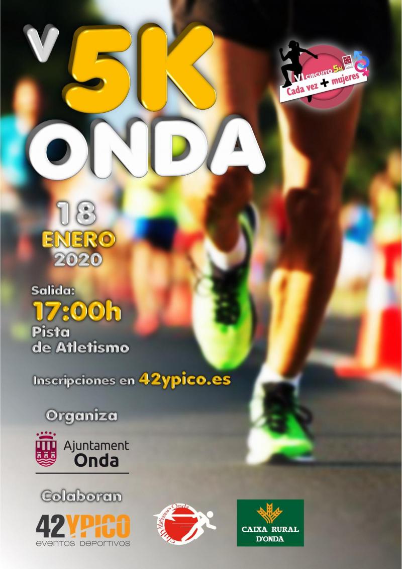 Cartel del evento V 5K ONDA