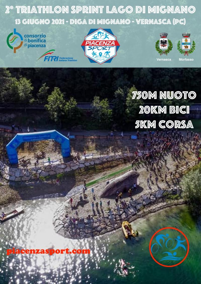 Locandina dell'evento 2° TRIATHLON SPRINT LAGO DI MIGNANO
