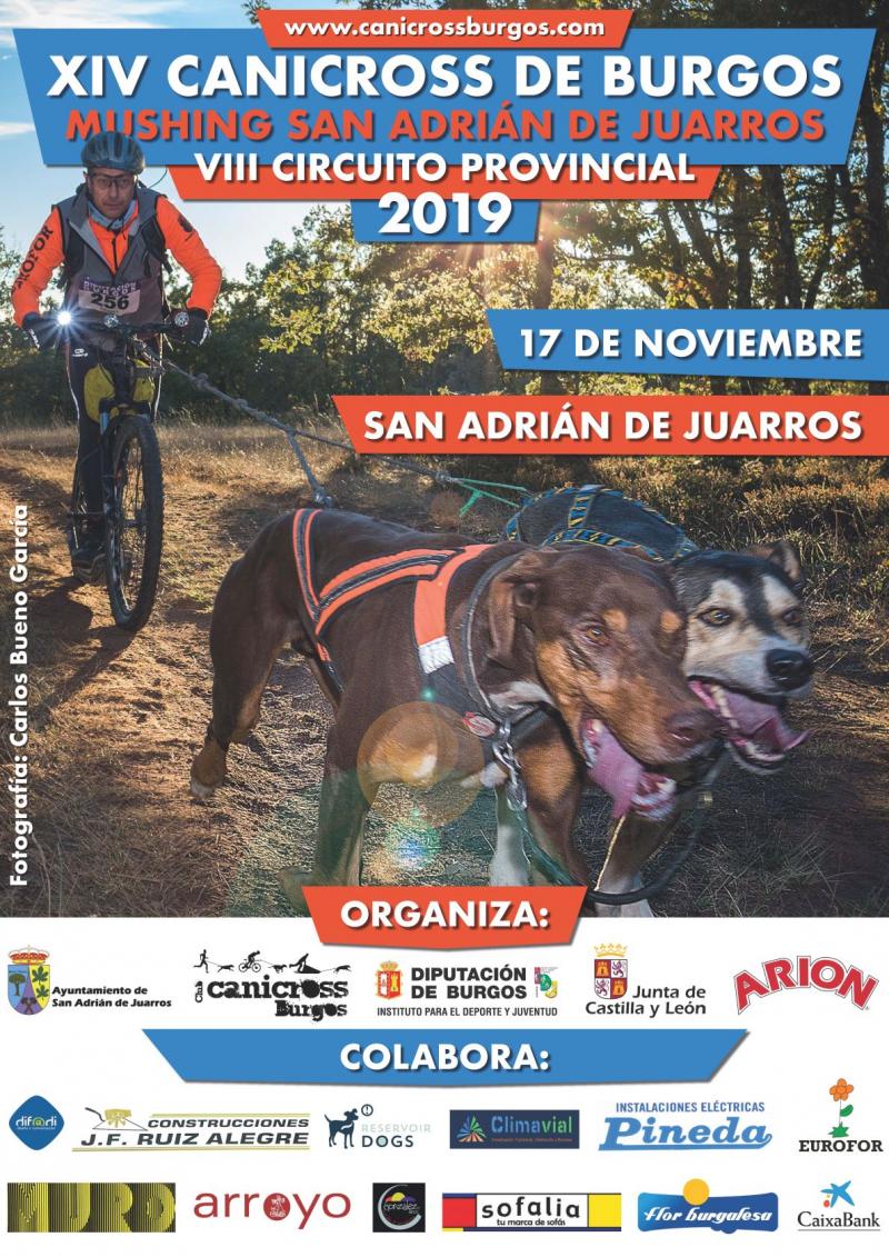 Cartel del evento XIV CANICROSS SAN ADRIÁN DE JUARROS. TROFEO DIPUTACIÓN