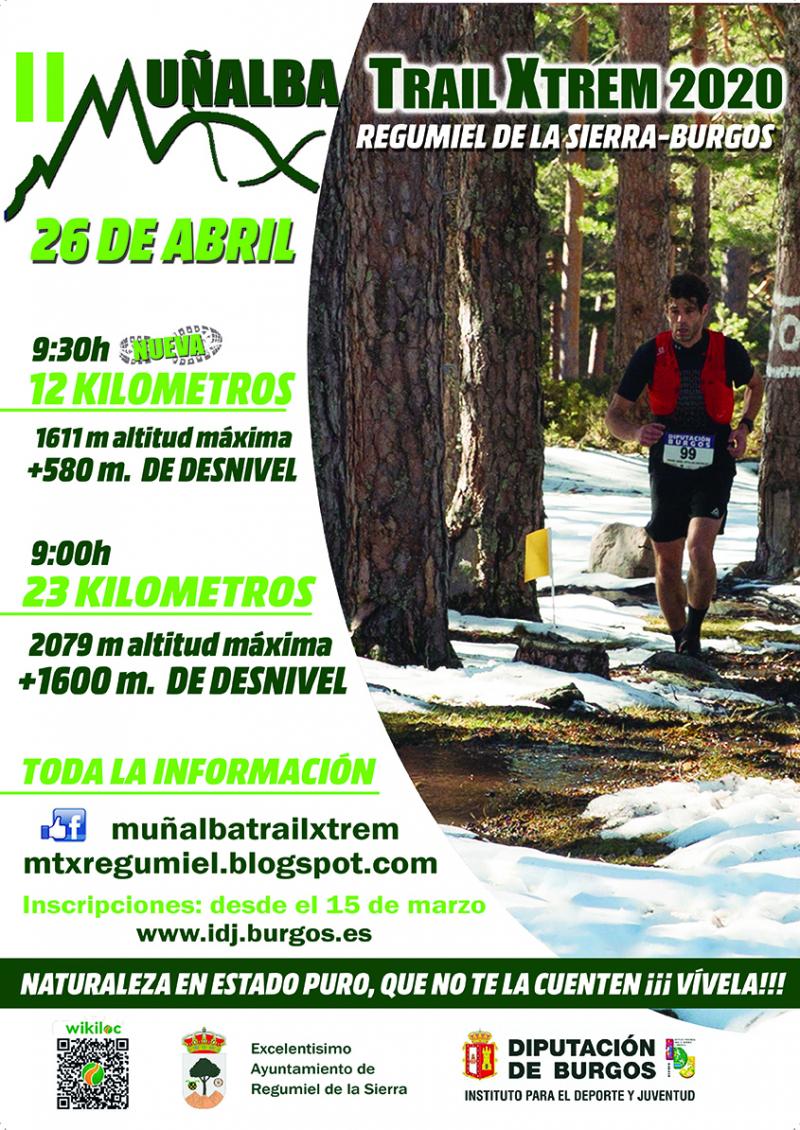 Cartel del evento II MUÑALBA TRAIL XTREM