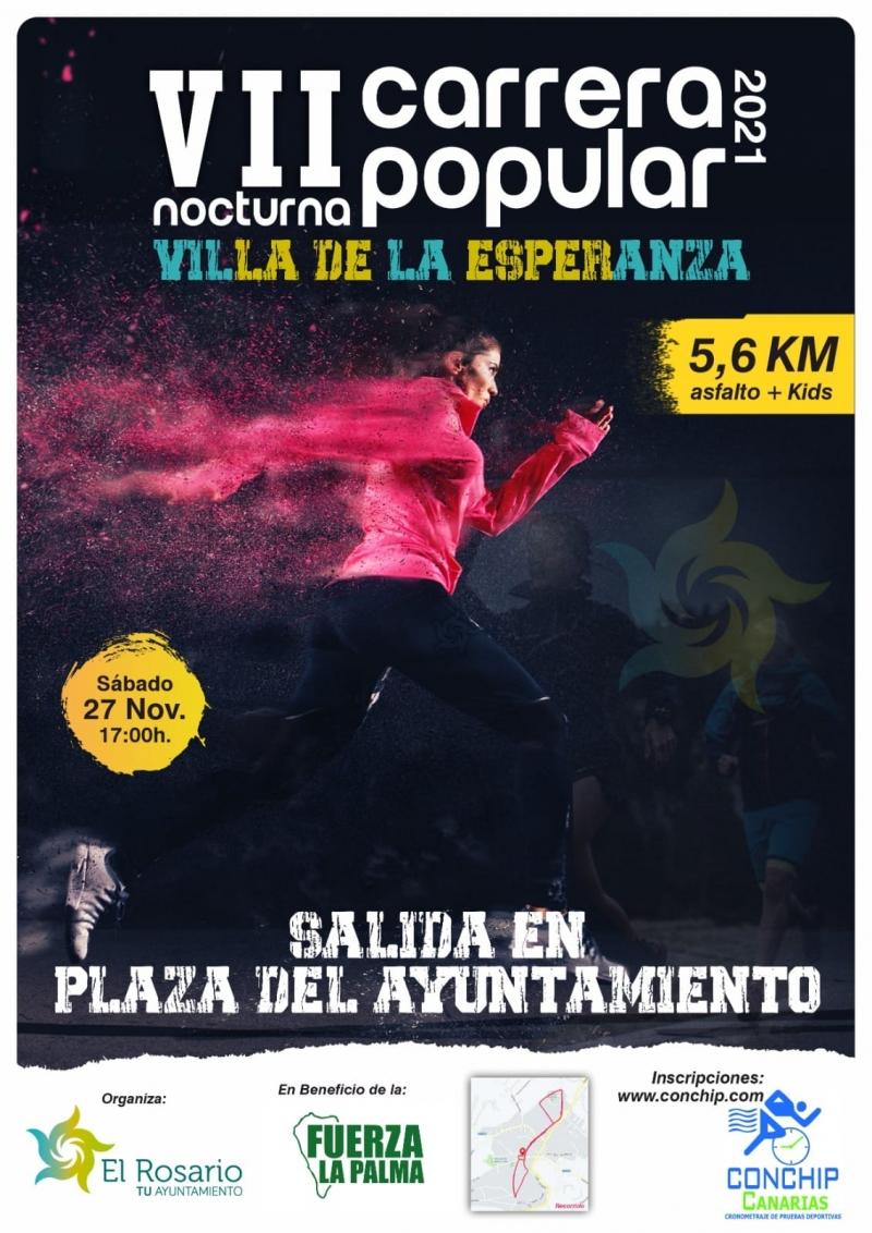 Event Poster VII CARRERA POPULAR NUESTRA SEÑORA DE LA ESPERANZA 2021.