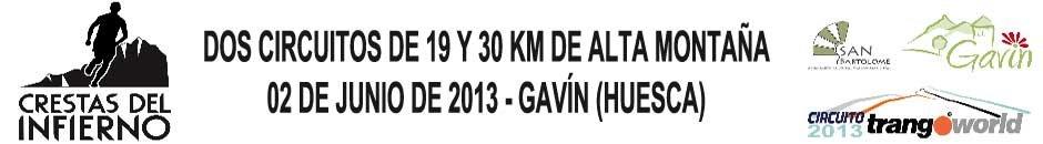 I CRESTAS DEL INFIERNO 2013