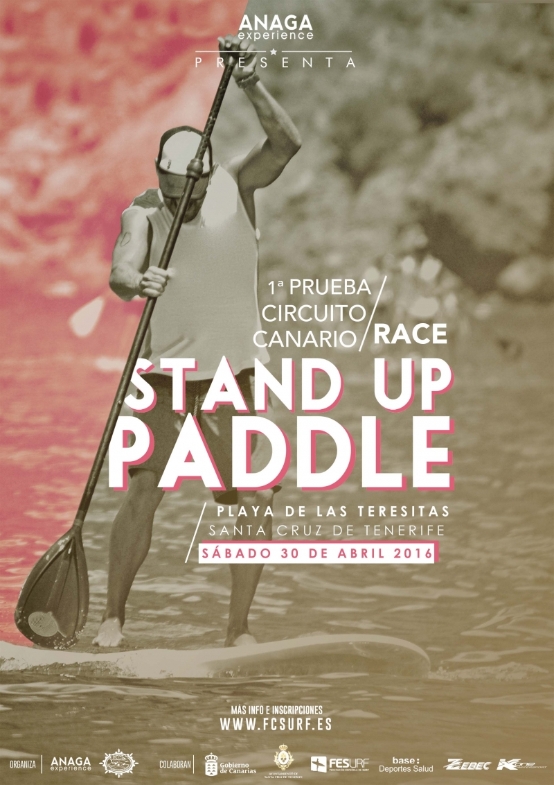 Cartel STAND UP PADDLE LAS TERESITAS
