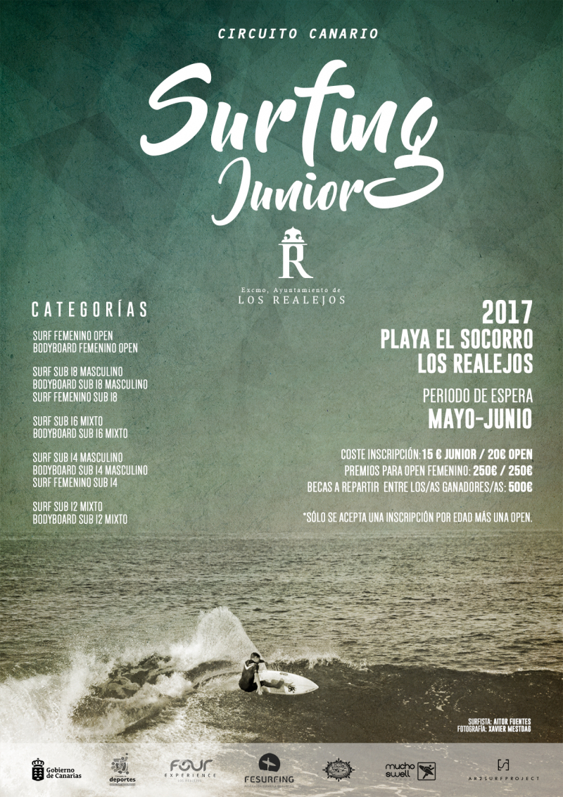 CIRCUITO CANARIO DE SURFING JUNIOR  & FEMENINO PLAYA DEL SOCORRO - 2017  - Inscríbete