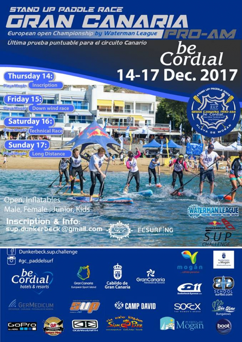 GRAN CANARIA PRO-AM  STAND UP PADDLE COSTA MOGAN   2017 - Inscríbete