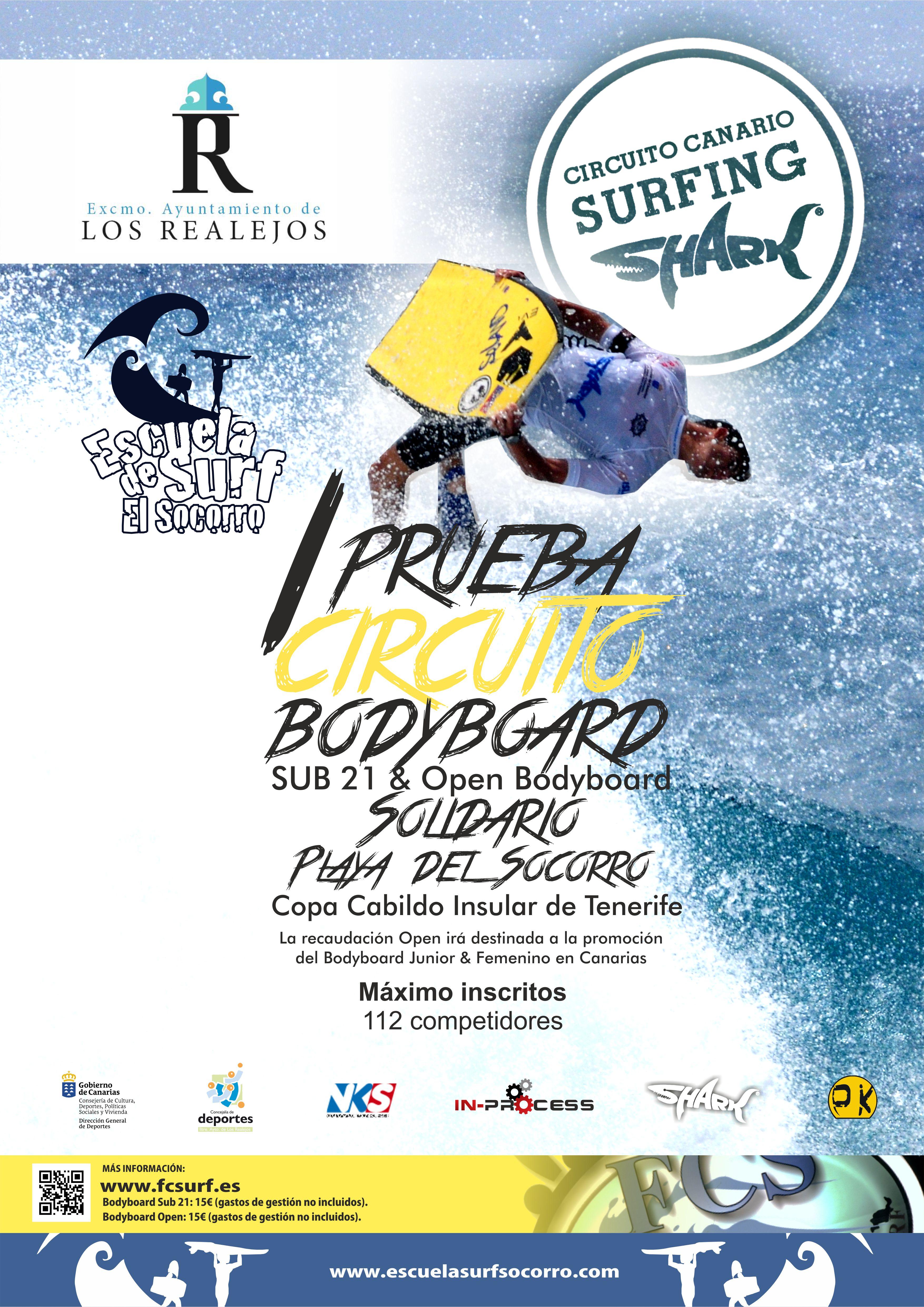 I PRUEBA CIRCUITO CANARIO DE SURFING SHARK-BODYBOARD SUB 21 - Inscrivez-vous