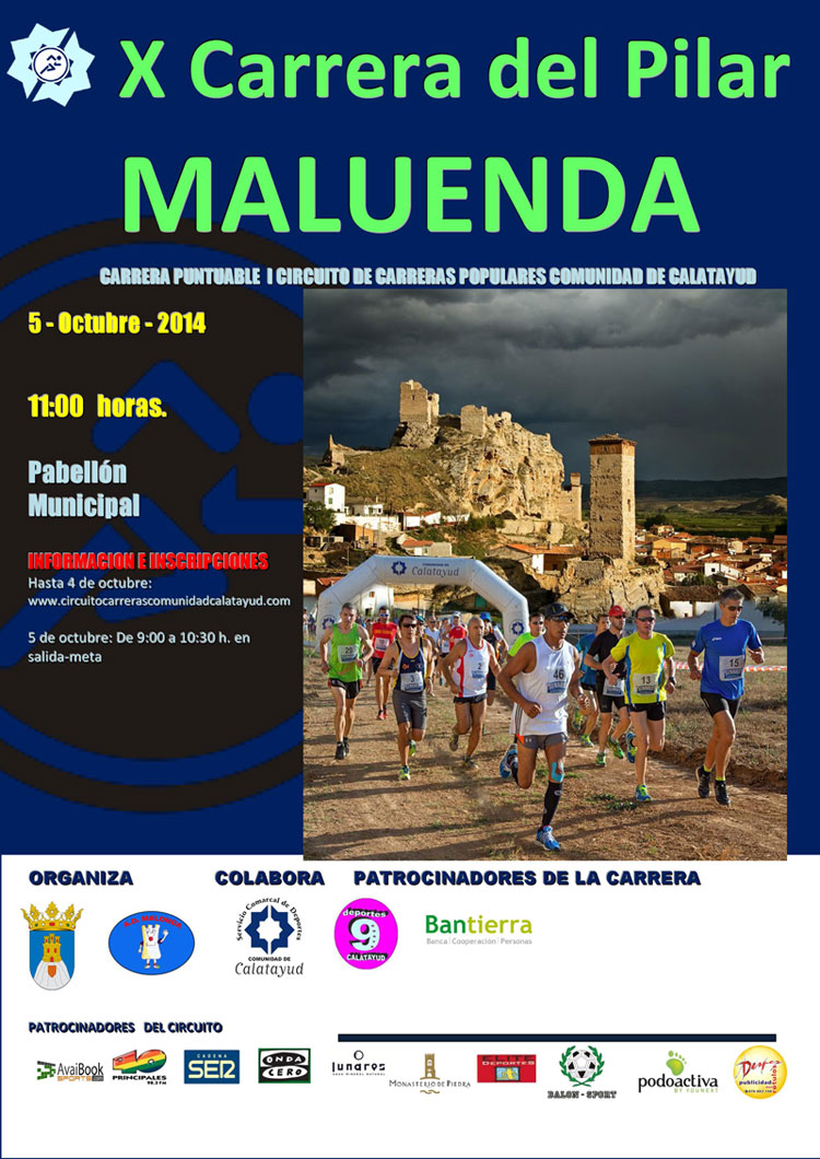 X CARRERA DEL PILAR - MALUENDA - Register