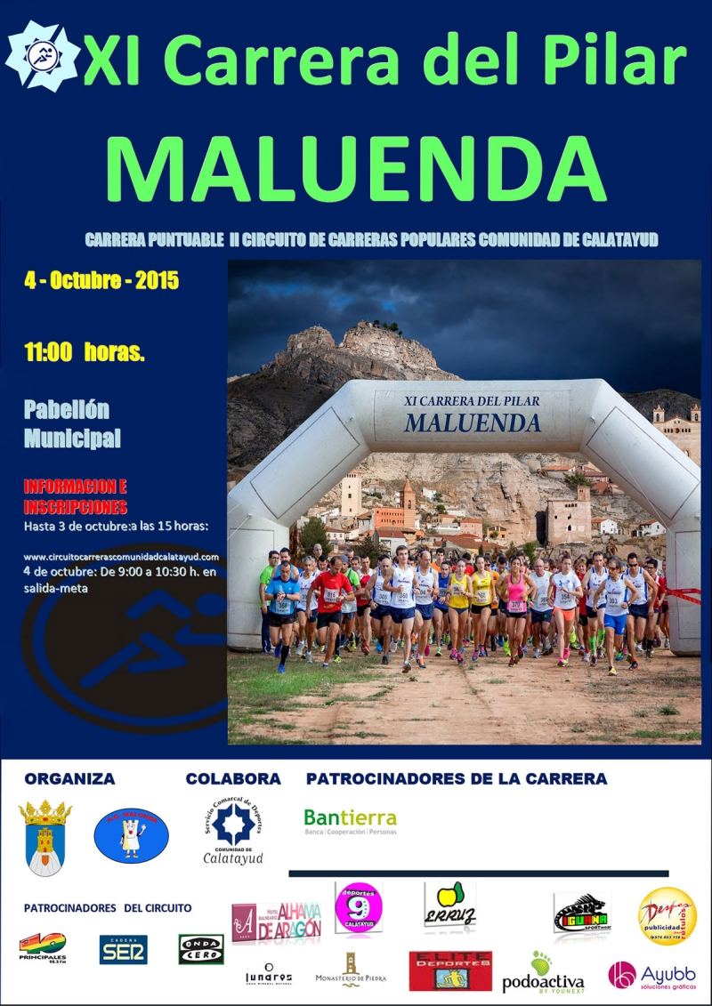 XI  CARRERA DEL PILAR (MALUENDA) - Register