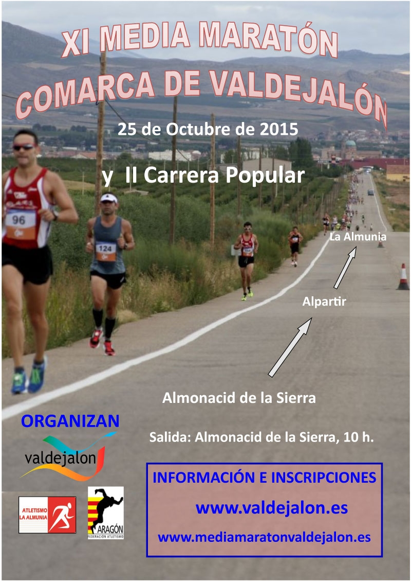XI MEDIA MARATON COMARCA DE VALDEJALON Y CARRERA POPULAR - Inscríbete