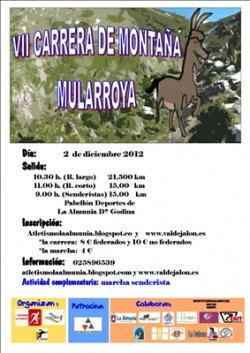 7ª CARRERA DE MONTAÑA DE MULARROYA - Inscrivez-vous