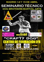 GURO CRAFTY DOG EN MADRID (DOG BROTHERS MARTIAL ARTS - Inscrivez-vous