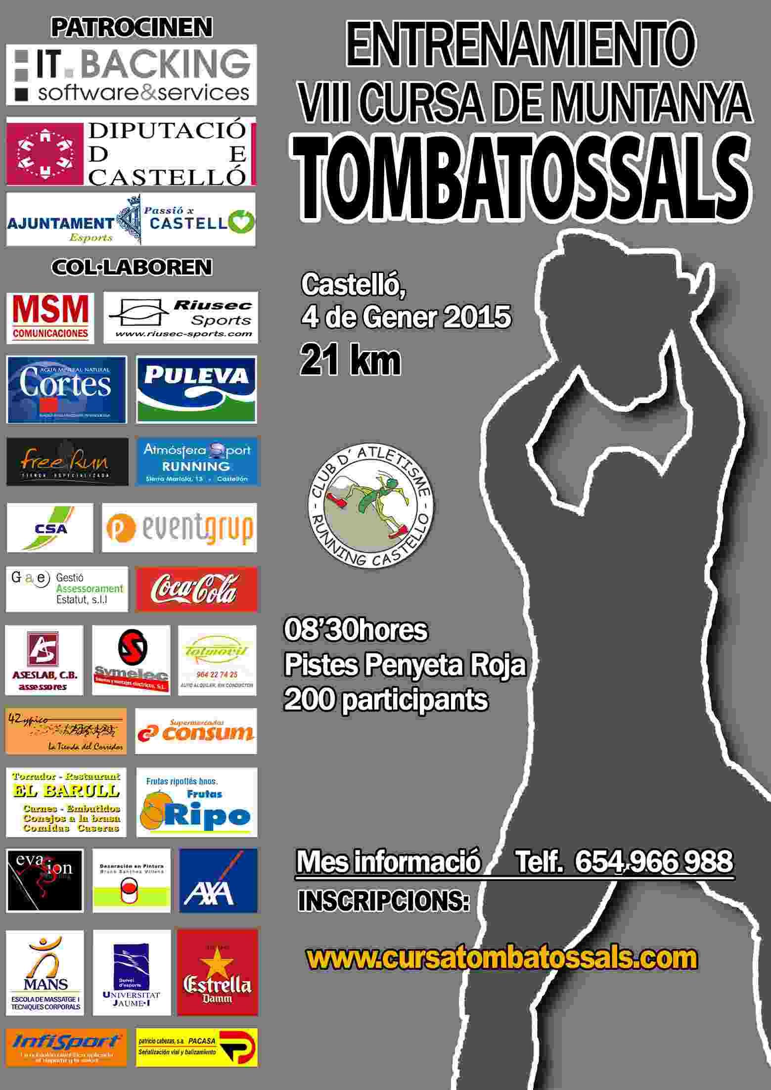 ENTRENE CURSA TOMBATOSSALS - Register