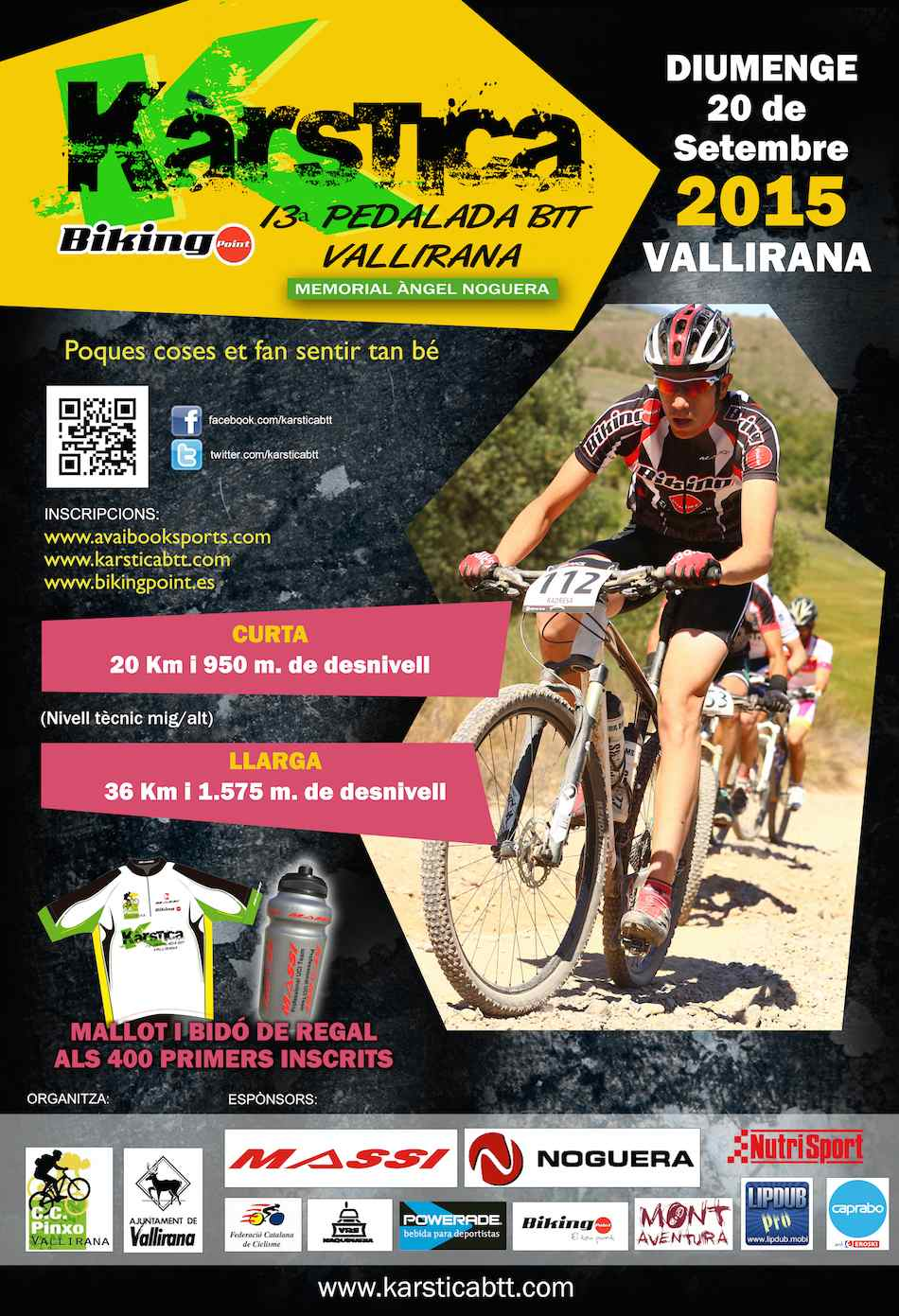 "13ª PEDALADA BTT  DE VALLIRANA ""KARSTICA"" 2015 - Inscriu-te"